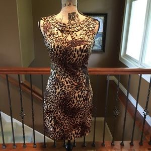 Cute and sassy leopard dress with beads